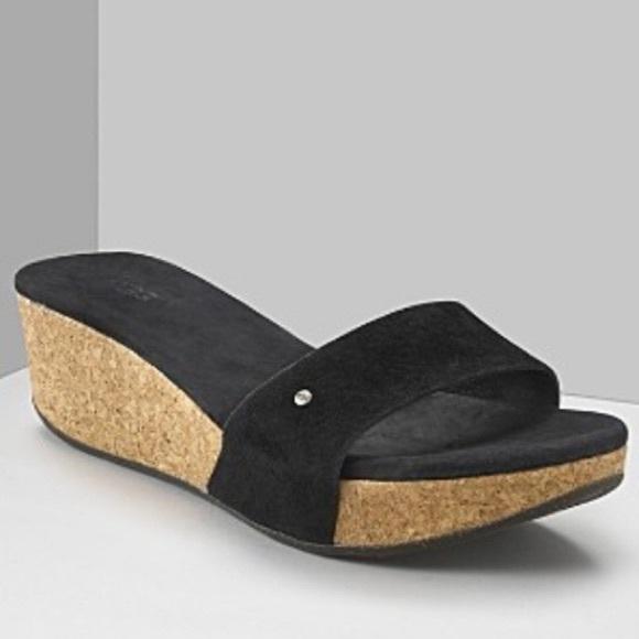 UGG Shoes - UGG Basil Cork Slip On Wedges